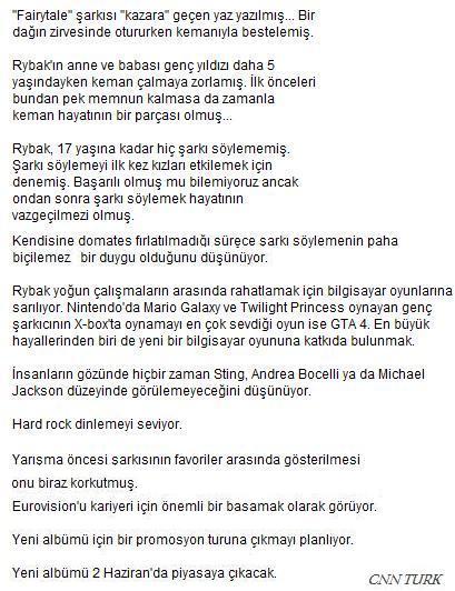 Cnn Türk haberi- Rybak
